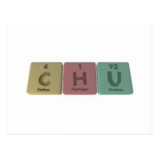 como uranio del hidrógeno del carbono tarjetas postales