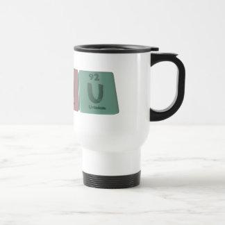 como uranio del hidrógeno del carbono tazas de café