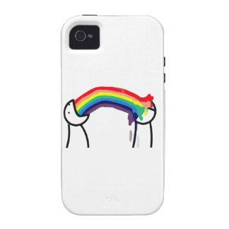 Cómo usted le conoce es gay - los arco iris vibe iPhone 4 carcasa