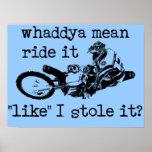 Como usted lo robó poster del motocrós de la bici