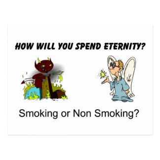 ¿Cómo usted pasará eternidad? ¿El fumar…? Postal