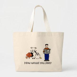 Cómo usted sentiría bolsas lienzo