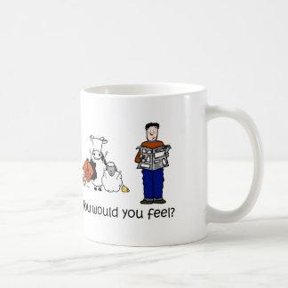Cómo usted sentiría taza de café