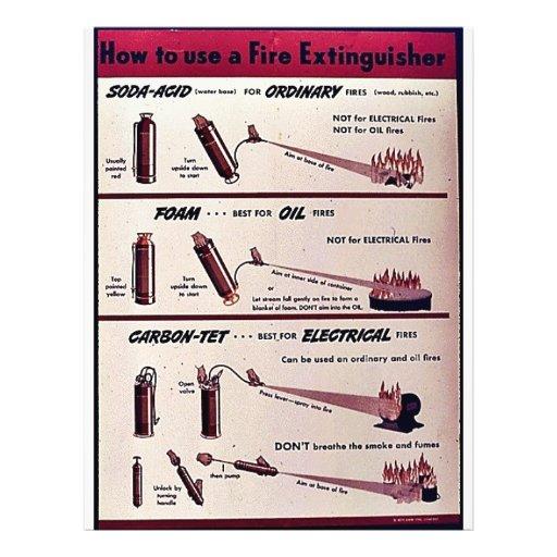 """Cómo utilizar un extintor folleto 8.5"""" x 11"""""""