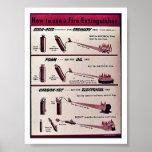 Cómo utilizar un extintor poster