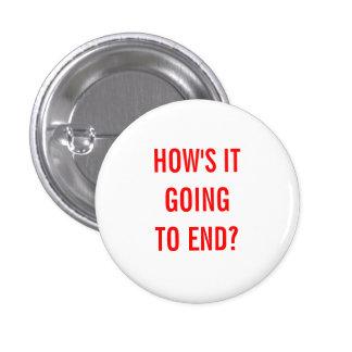 ¿Cómo va a terminar? Pin Redondo De 1 Pulgada