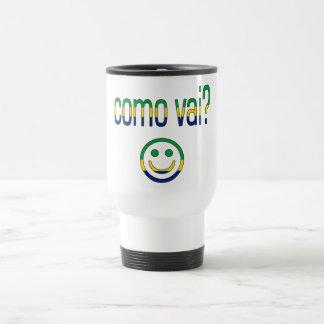 Como Vai? Brazil Flag Colors Mug