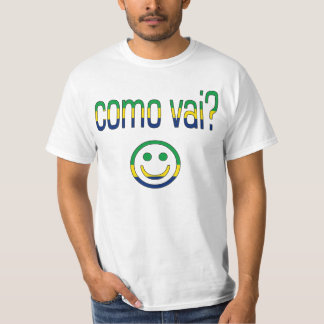 Como Vai? Brazil Flag Colors T-Shirt