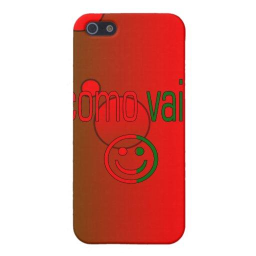 ¿Como Vai? La bandera de Portugal colorea arte pop iPhone 5 Fundas