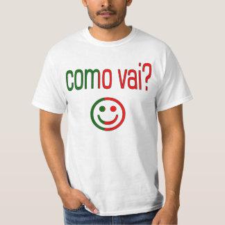 Como Vai? Portugal Flag Colors T-Shirt