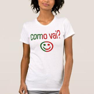 Como Vai? Portugal Flag Colors Tee Shirts