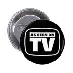 Como visto en la TV - blanco y negro Pins