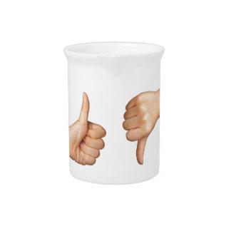 Como y aversión jarra para bebida