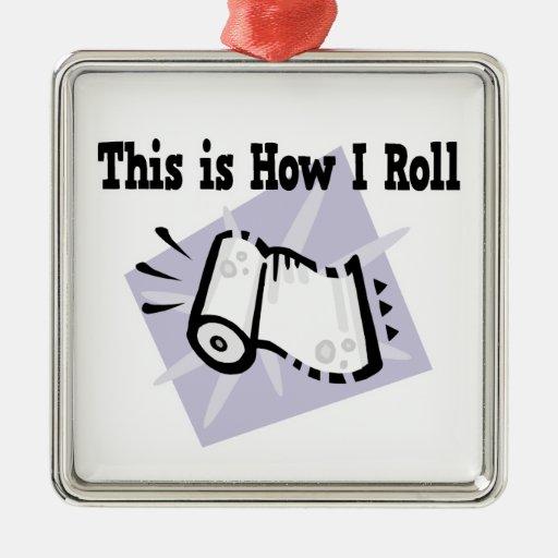 Cómo yo toallas de papel de rollo adorno cuadrado plateado