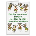 Comodidad y alegría tarjeta