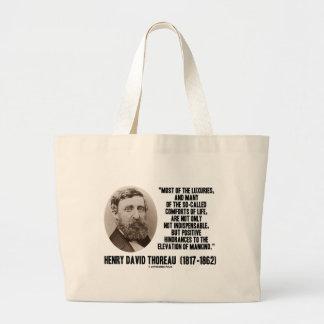 Comodidades supuestas de los lujos de Thoreau de Bolsa Tela Grande