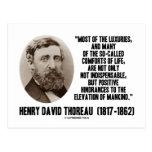 Comodidades supuestas de los lujos de Thoreau de Postal