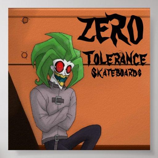 comodín, CERO, tolerancia, monopatines Impresiones