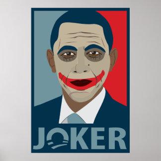 Comodín de Anti-Obama Póster