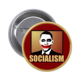 Comodín de Obama - socialismo Pin Redondo 5 Cm