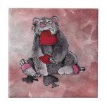 Comodín del oso tejas  cerámicas