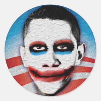 Comodín Obama Pegatina Redonda