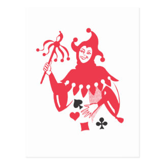 Comodín rojo tarjetas postales