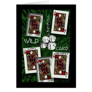 Comodines salvajes tarjeta de felicitación