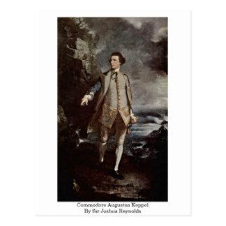 Comodoro Augustus Keppel de sir Joshua Reynolds Postales