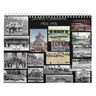 Comodoros de Stockton con los años Calendarios