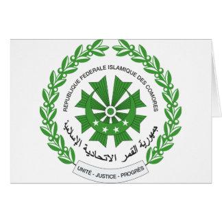 Comoros Coat of Arms Greeting Card