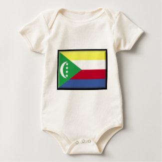Comoros Flag Baby Bodysuit
