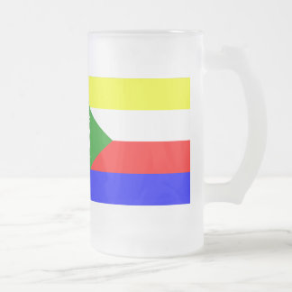 Comoros Flag Frosted Glass Beer Mug