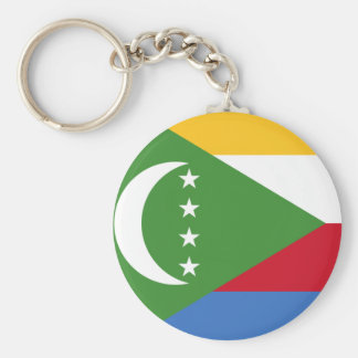 Comoros flag KM Keychain