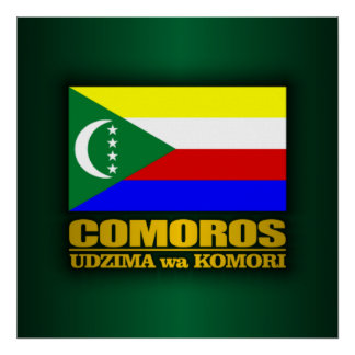 Comoros Flag Poster