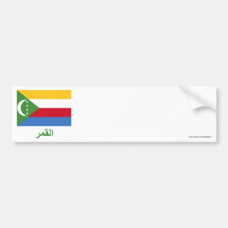 Comoros Flag with Name in Arabic Bumper Sticker