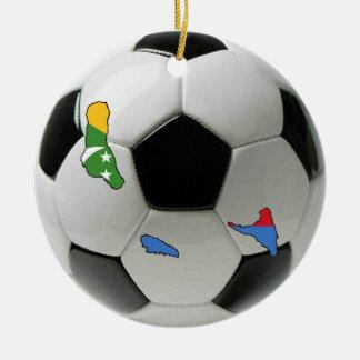 Comoros football soccer ornament