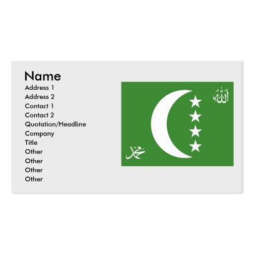 Comoros old, Comoros Business Card Templates