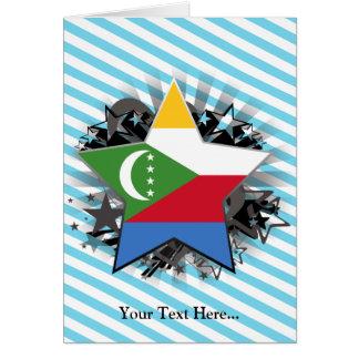 Comoros Star Greeting Cards