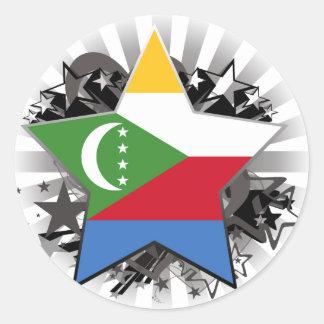 Comoros Star Stickers