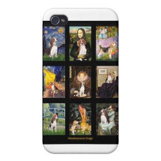 Comp famosos 1 del beagle del arte iPhone 4 funda