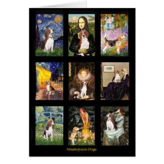 Comp famosos 1 del beagle del arte tarjeta de felicitación