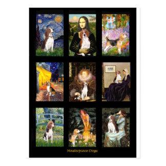 Comp famosos 1 del beagle del arte tarjetas postales