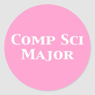 Comp Sci Major Gifts Classic Round Sticker