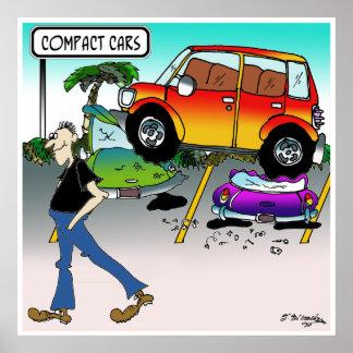 Compact Car Cartoon 7951 Poster