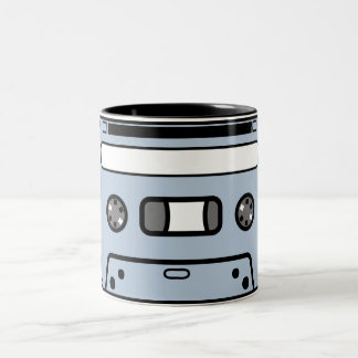 COMPACT CASSETTE TAPE 2 Two-Tone COFFEE MUG