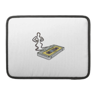 Compact Cassette Tape Man Dancing Mono Line Sleeve For MacBook Pro