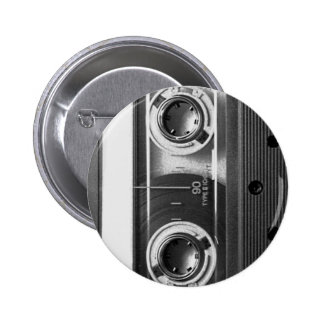Compact Cassette Tape Pinback Button