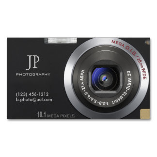 Compact Digital Camera Photographer Magnetic Business Cards (Pack Of 25)