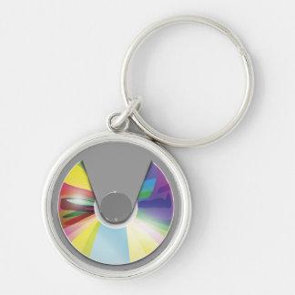 Compact disc keychain